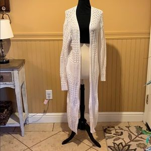 Long sleeve long cardigan sweater